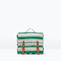 Image 1 of STRIPE PRINT FABRIC  BACKPACK from Zara