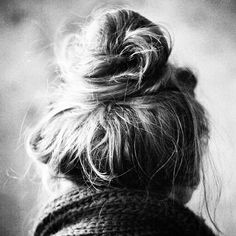 if only i could do a messy bun and make it look cute...
