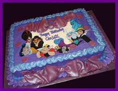 I want a villain cake for my birthday, not like this but I do want one. :)