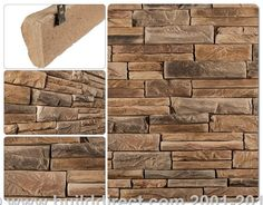 Install-With-Screws Manufactured Stone - Individual Stone - Bear Mountain