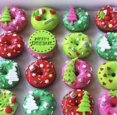 Doughnuts, Merry Christmas, Sweets, Cake, Desserts, Food, Instagram, Merry Little Christmas, Tailgate Desserts