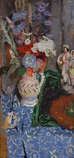 William George Gillies - ,Still Life, Flowers and Figures Glasgow Museum, Still Life Artists, Still Life Flowers, Impressionist Art, Art Uk, Flower Art, Oil On Canvas, Art Gallery, British