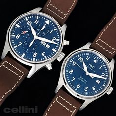 Royal Blue: Le Petit Prince editions of the Pilot's Watch and Mark XVIII from See them now at Cellini. Iwc Pilot, Animal Kingdom, Omega Watch, Chronograph, Royal Blue, Jewels, Photo And Video, Watches, Accessories