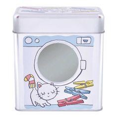 Plåtburk för klädnypor  - DLP Dixie Tin Boxes, Box Design, Kitchen Utensils, Decoration, Home Organization, Washing Machine, Home Appliances, Gadget, Vestidos