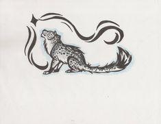 snow leopard tattoo by on DeviantArt Leopard Tattoos, Snow Leopard Tattoo, Tattoo Bein, Bee Tattoo, Chest Tattoo, Snow Leopard Drawing, Vintage Bee, Wild Creatures, Tattoo Stencils