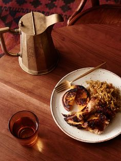 Middle Eastern Stuffed Chicken with Freekeh and Oranges — The Design Files | Australia's most popular design blog.