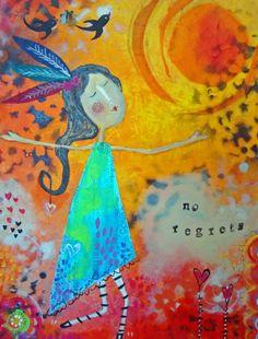 NO REGRETS  Fine Art Print by CarlasFunkyArt on Etsy