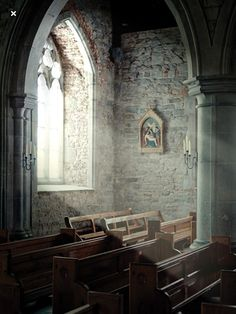 Photo about Old church interior with light coming from a window. Image of church, bright, religion - 18498703 Sacred Architecture, Church Architecture, Light Architecture, Romanesque Architecture, Cultural Architecture, Old Country Churches, Old Churches, Abandoned Churches, Catholic Churches