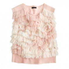Merino Wool Fringe Sweater Vest // Ryan Roche for J.Crew
