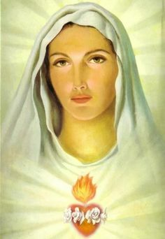 Blessed Mother - shares the Sacred Heart of JC