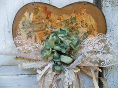 Distressed aqua heart wall hanging handmade by AnitaSperoDesign, $40.00