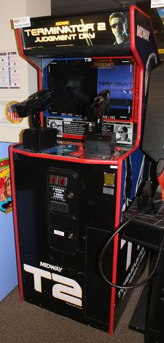 Terminator 2: Judgement Day Shooting Video Game - This game has turned a kind of military inspired movie, The Terminator (2) and turned it into an arcade room style shooting game.