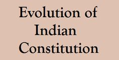 Evolution of Indian Constitution | GK | English | Aptitude | SSC | IBPS | Online Study Material