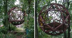 Michael Wielgus from Krakow, Poland, sent us his dome-shaped, wooden treehouse, which was inspired by the geodesic dome structures of American architect Richard Buckminster Fuller.