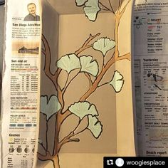 A lovely ginkgo leaf plate by @woogiesplace with @repostapp ・・・ #ginko #grpotteryforms #pottery  I'm enjoying this painting!  #ceramics #handmade #makersmovement #makersgonnamake #instapottery #pottersofinstagram