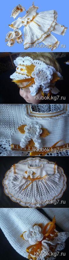 Крестильный набор для девочки ( автор Евгения Колыбелкина)