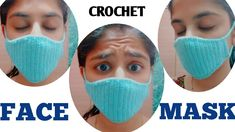 How to Crochet Quick and Easy Face Mask – Patricia L. Crochet Beard Hat, Crochet Mask, Crochet Faces, Learn To Crochet, Easy Crochet, Free Crochet, Easy Face Masks, Diy Face Mask, Tapas