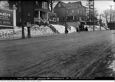 1917 -Yonge Street grading north from Woodlawn Avenue Hidden Art, Yonge Street, Toronto Ontario Canada, West Village, Old Pictures, St Louis, Past, Dear God, Black And White