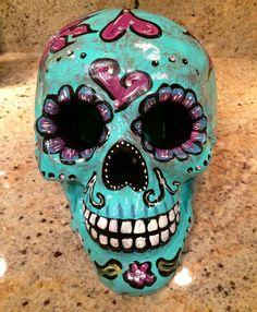 Large ceramic sugar skull- day of the dead