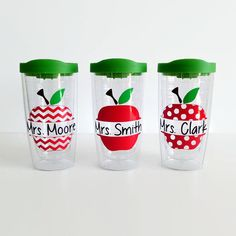 Personalized Teacher Tumbler Apple Tumbler by LuckyLilyDesigns