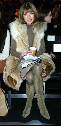 Anna at Kenneth Cole, 2003.