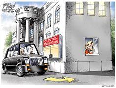 HILLARY'S DRIVE THROUGH | Aug/12/16 Political Cartoons by Gary Varvel