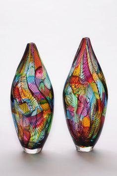 - Mosaic Vases by Bob Crooks (2013) - #glassart #artglass #artwork #Vase http://www.pinterest.com/TheHitman14/art-glasscrystal-%2B/