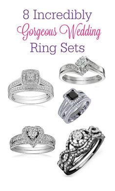 Stressing over finding the perfect wedding bands that you'll love for a lifetime? Check out these 8 gorgeous wedding ring sets! Stressing over finding the perfect wedding bands that you'll love for a lifetime? Check out these 8 gorgeous wedding ring sets! Wedding Ring Styles, Wedding Rings Solitaire, Cool Wedding Rings, Beautiful Wedding Rings, Wedding Rings Rose Gold, Wedding Ring Designs, Wedding Rings Vintage, Wedding Bands, Engagement Rings