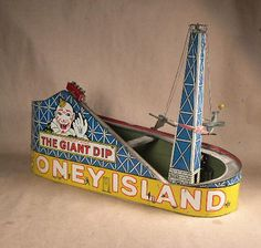 Tin Litho Toy Henry Katz Coney Island Amusement Park Wind Up Toy Complete