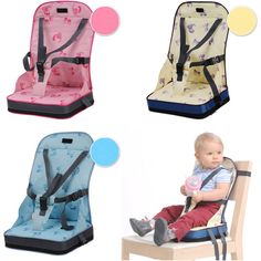 Portable Travel Baby Kids Toddler Feeding High Chair Booster Seat Cover Cushion