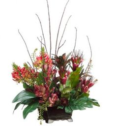Tropical Silk Floral Centerpiece with Protea arwf1142
