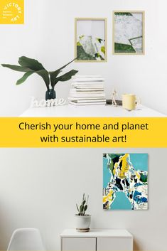Take care of your home, office and our planet with eco-friendly interior decor, such as, recycled art pieces! Enhance your life with meaningful and good decor and thoughts. Recycled Art, Sustainability, Planets, Eco Friendly, Art Pieces, Interior Decorating, Collage, Things To Come, Thoughts