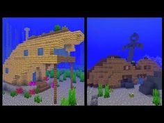 Here are more minecraft inspiration designs this time transforming the multiple different shipwrecks that generate! Minecraft Ships, Minecraft Video Games, Minecraft Medieval, Minecraft Pe, Minecraft Buildings, Minecraft Stuff, Minecraft Bridges, Youtube Minecraft, Minecraft Building Blueprints