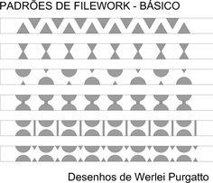 Desenhos de exemplos para filework- agora com bonus