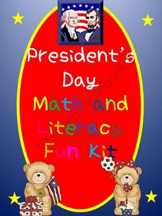 Presidents Day Math and Literacy Fun Kit product from Mrs-TL-Garcia on TeachersNotebook.com
