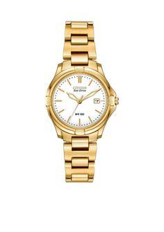 54b447fe426 Citizen Eco-Drive Women s Gold-Tone Silhouette Watch