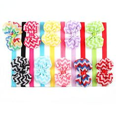 ROEWELLA pack of 10 Pcs Babys Hair Bows Newborn Grirls First Birthday Headbands Infant Head wear and Hairband Toddlers Hair Flower Bows set 1 >>> You can find out more details at the link of the image.(This is an Amazon affiliate link and I receive a commission for the sales)