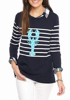 crown & ivy™ Intarsia Sweater