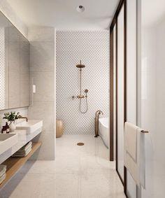 neutral bathroom bathroom, Great Minimalist Modern Bathroom Ideas - Home of Pondo - Home Design Bathroom Style, Bathroom Interior Design, Bathroom Remodel Master, Modern Bathroom Design, Bathroom Styling, Cheap Home Decor, Elegant Bathroom, Bathroom Tile Designs, Contemporary Bathroom Designs