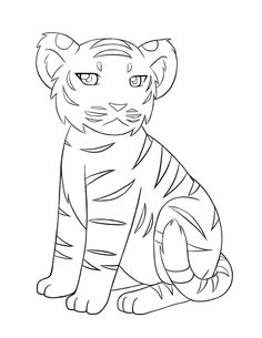 image for baby tiger coloring pages