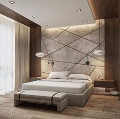 Modern Style Bedroom Design Ideas and Pictures. Shares tips to help you create a modern bedroom style without turning it into a midcentury time capsule. Bedroom False Ceiling Design, Luxury Bedroom Design, Bedroom Bed Design, Modern Master Bedroom, Minimalist Bedroom, Home Bedroom, Home Interior Design, Bedroom Ideas, Contemporary Bedroom