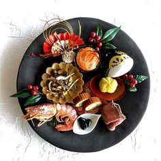 Japanese Dishes, Japanese Food, Asian Recipes, Sushi Recipes, Food Art For Kids, New Year's Food, Food Decoration, Cafe Food, Food Presentation