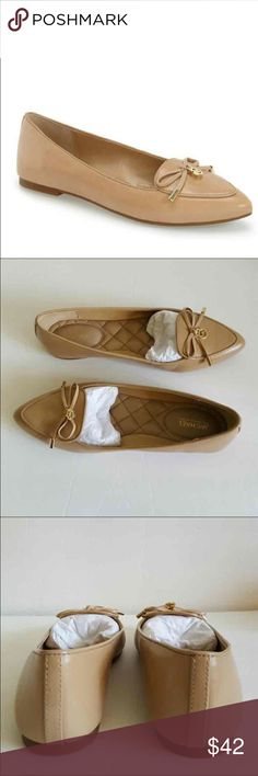 *reserved* Michael Kors Flats 100% Authentic Beautiful leather beige pointed flats- brand new with box included- gorgeous bow detail with gold MK logo. I'm re-Poshing these because they didn't fit :( so they need a good home!!! KORS Michael Kors Shoes Flats & Loafers