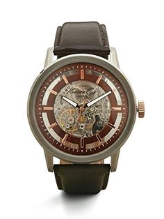 Men's Wrist Watches - Kenneth Cole New York Mens KC1718 Automatic Silver Dial Watch -- For more information, visit image link.