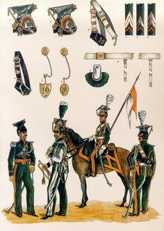 le 10e Régiment de Lanciers Belgo-Hollandais Les planches uniformologiques de Robert Aubry