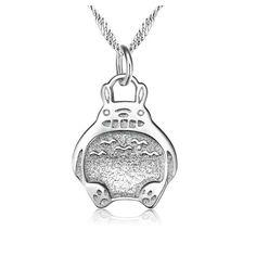 silver 925 pendant/ japan jewelry/japanese cartoon/ cos/ Hayao Miyazaki/ Totoro/Totoro silver pendant