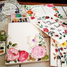 Watercolor invitation design