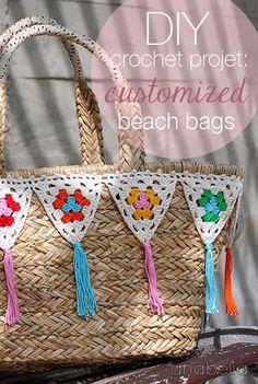 Marvelous Crochet A Shell Stitch Purse Bag Ideas. Wonderful Crochet A Shell Stitch Purse Bag Ideas. Crochet Bunting, Crochet Garland, Diy Crochet Projects, Crochet Crafts, Quick Crochet, Love Crochet, Crochet Summer, Crochet Handbags, Crochet Purses