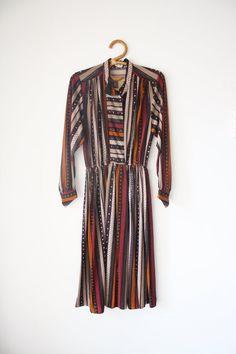 Long sleeve Japanese vintage dress by LilyAndPaigeVintage on Etsy