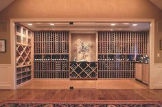 """How many of you would say """"yes"""" to a glass-enclosed wine cellar? And how many of you would be opposed to the idea? Let's find out! Storage Under Staircase, Under Stairs, Chill Room, Wine Merchant, Wine Storage, Liquor Cabinet, Layout, Glass, Wine Cellars"""